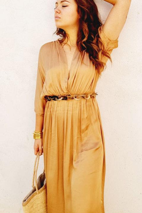 Robe Satinée Clifton - Gold