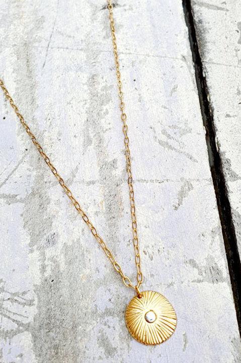 Sautoir Médaille Marguerite Gold