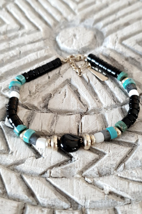 Bracelet Perles de Verre - N4