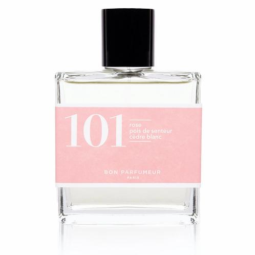 Eau de Parfum : 101 - Rose / Pois de senteur / Cèdre blanc