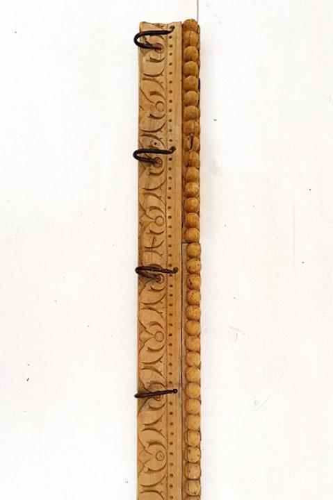 Patère Sculpté Indienne N.2 - Bois Ancien