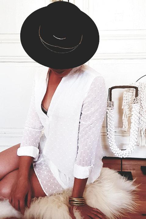 Robe Chemise Plumetis - Blanc