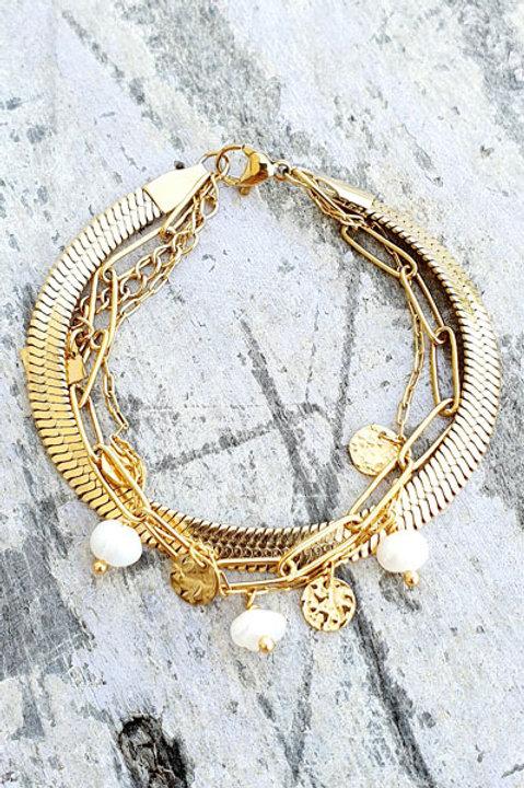 Bracelet Trio - Gold - N.5