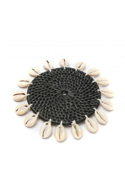 Dessous de verre Coquillage Noir