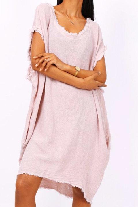 Robe Ibiza Lin Coton - Nude Rose
