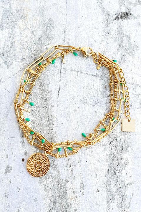 Bracelet Multi - Sun - Green