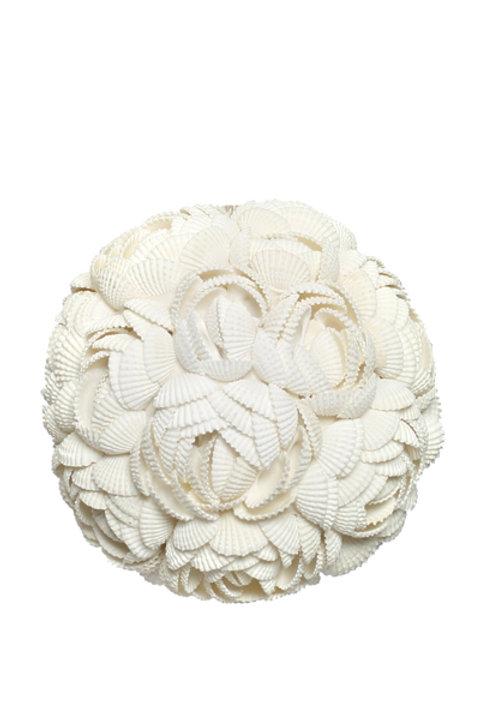 Boule Coquillage Rose Blanche Grand Modèle