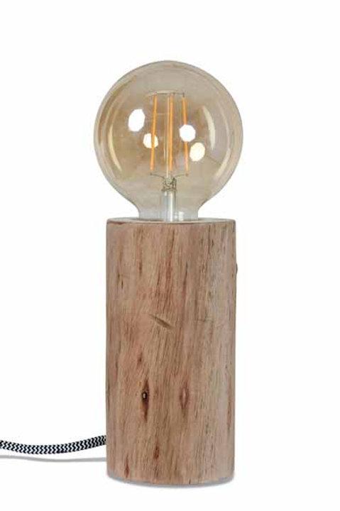 Lampe à Poser en Bois d'Eucalyptus - Grand Modèle