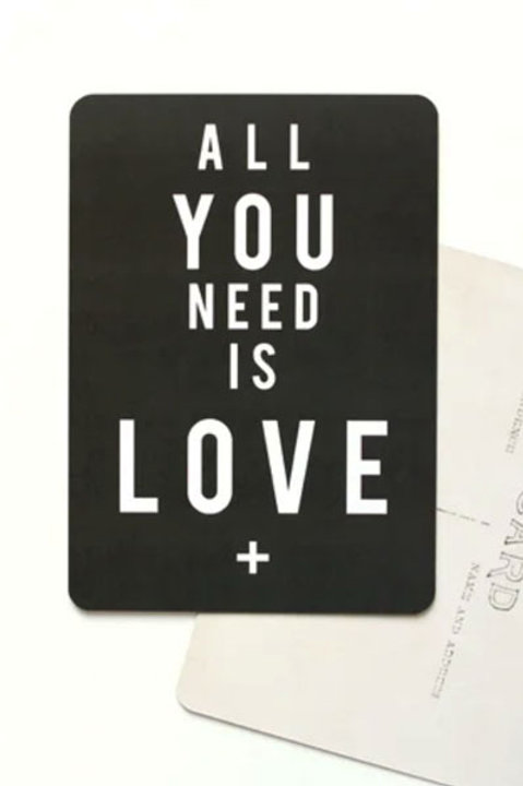 Carte Postale - All You Need is Love