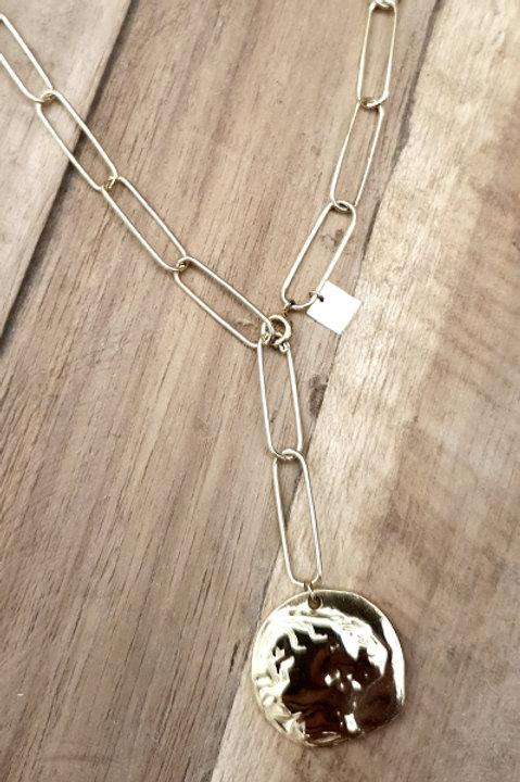 Sautoir Chainette Médaille Gold