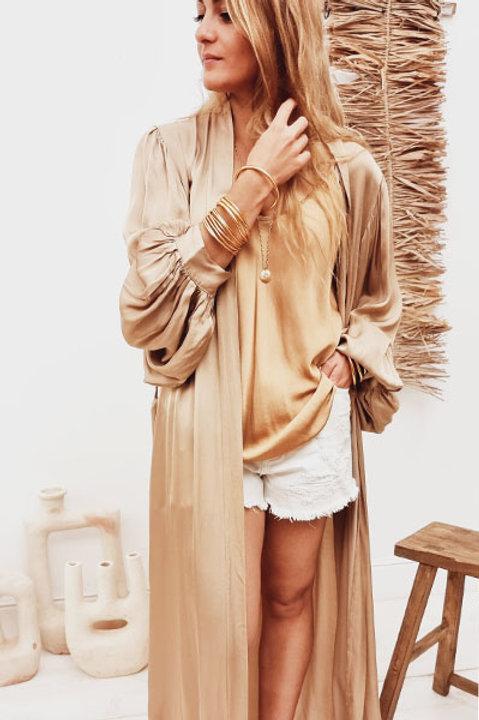 Kimono Satiné Camel