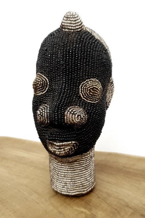 Tête Perlée - Petit Modèle - Black