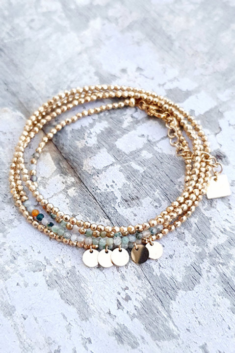 Bracelet Multi Tour - Agate Indienne - N.2