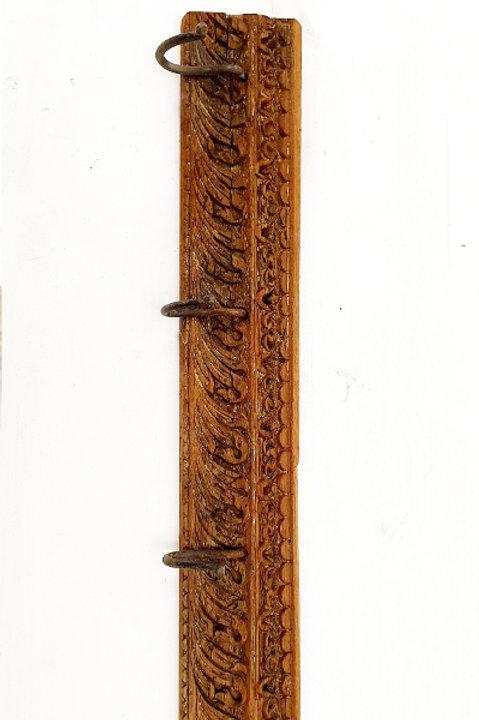Patère Sculpté Indienne N.15 - Bois Ancien