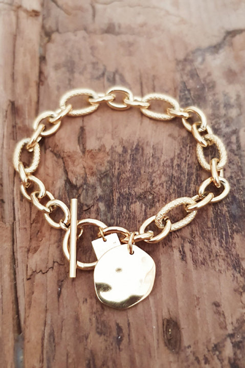 Bracelet Chainette Médaille Gold