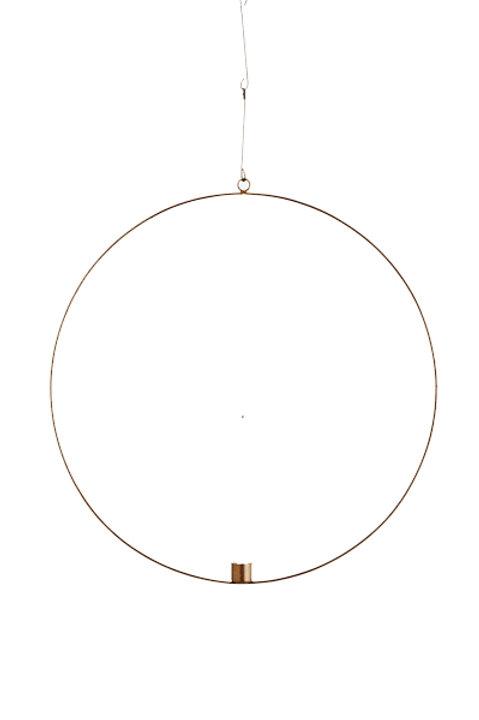 Suspension Cercle Bougeoir - 40cm