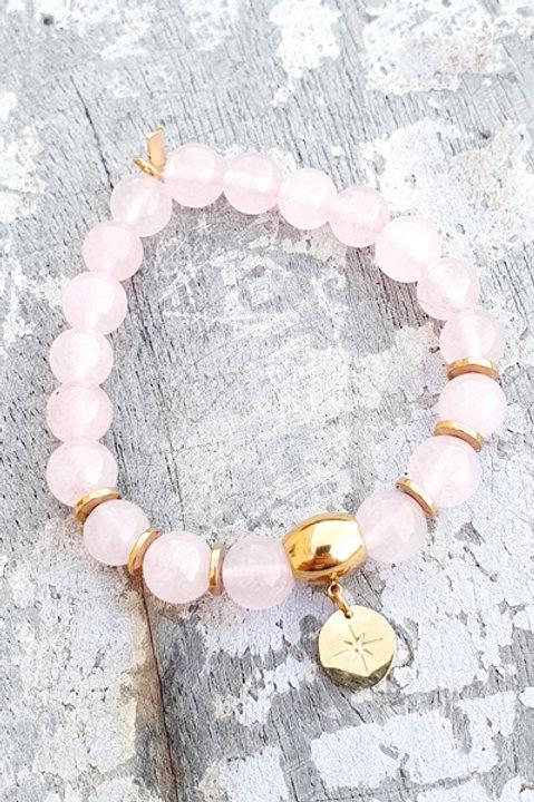 Bracelet - Pierre Quartz Rose - Pampille Sun Gold