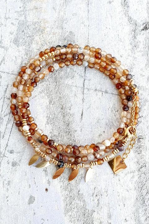 Bracelet Multi Tour - Oeil de Tigre - N.4