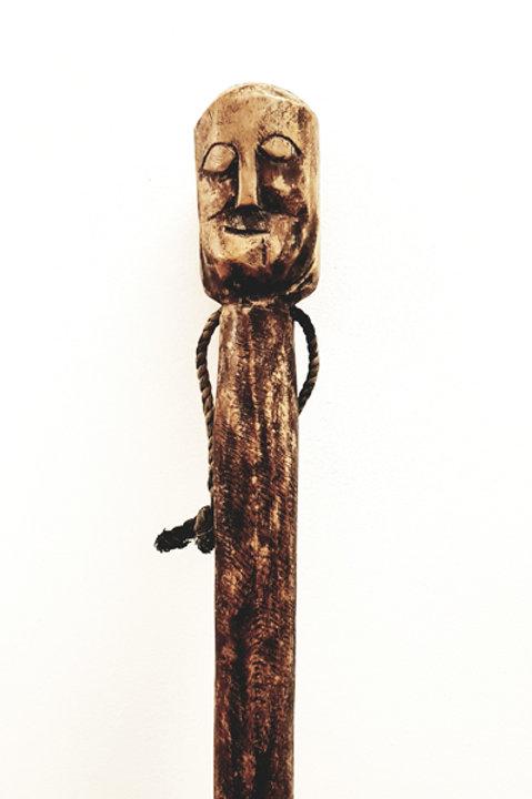 Baton Totem Bois Sculpté