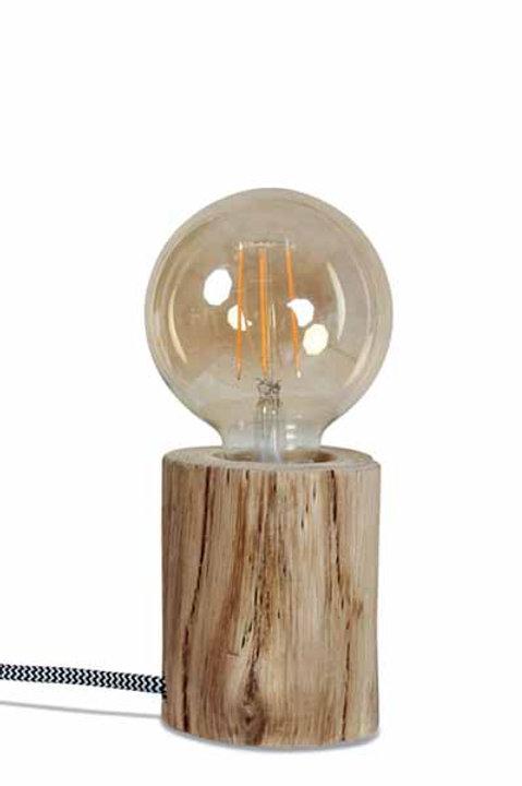 Lampe à Poser en Bois d'Eucalyptus - Petit Modèle