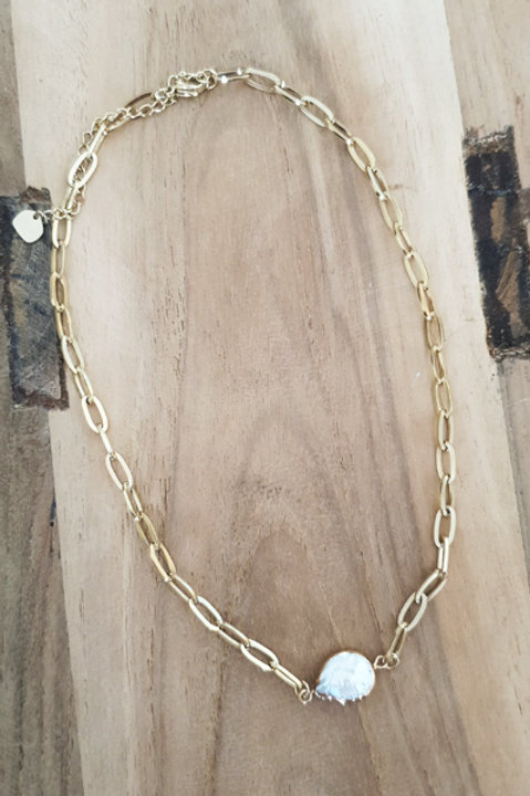 Collier Chainette Nacre