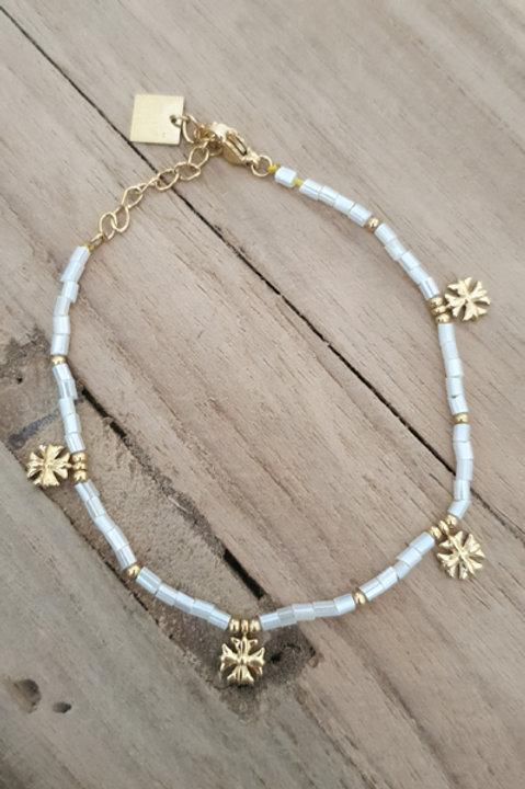 Bracelet Perles de Pierre - Agathe Blanche N3