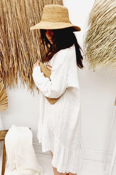 Robe Péitho Lin - Blanc
