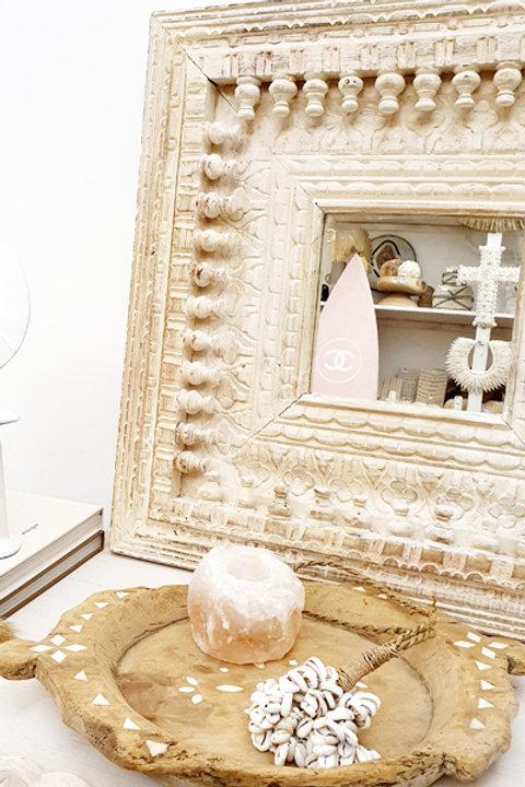 Miroir Sculpté Indien Bleach XL