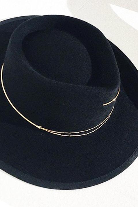 Chapeau Feutre de laine Black - Fabrication Francaise
