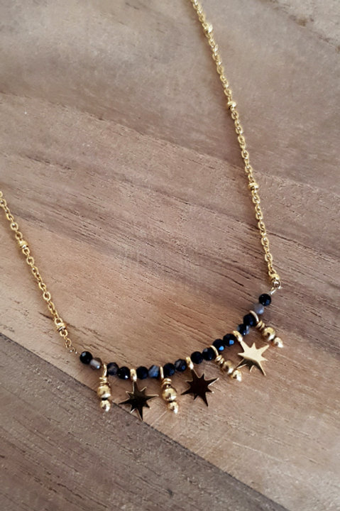 Collier Ras de Cou Summer N.2 - Black Gold