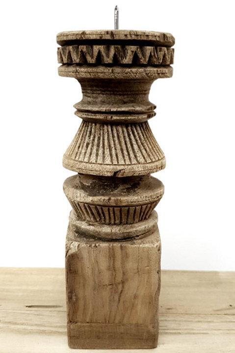 Bougeoir Bois Sculpté S - N.5