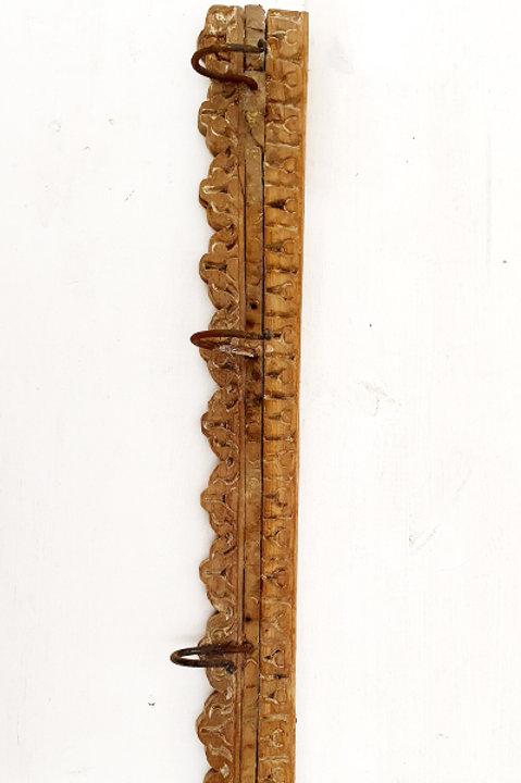 Patère Sculpté Indienne N.18 - Bois Ancien