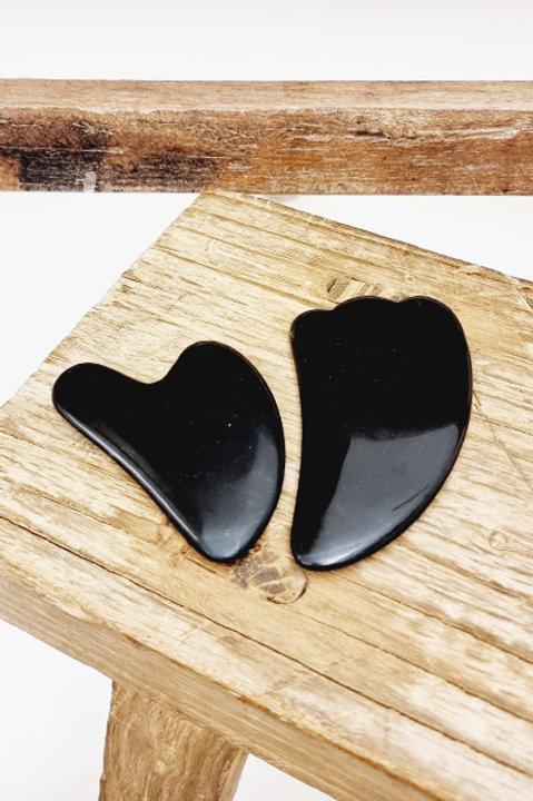 Gua Sha Heart - Obsidienne
