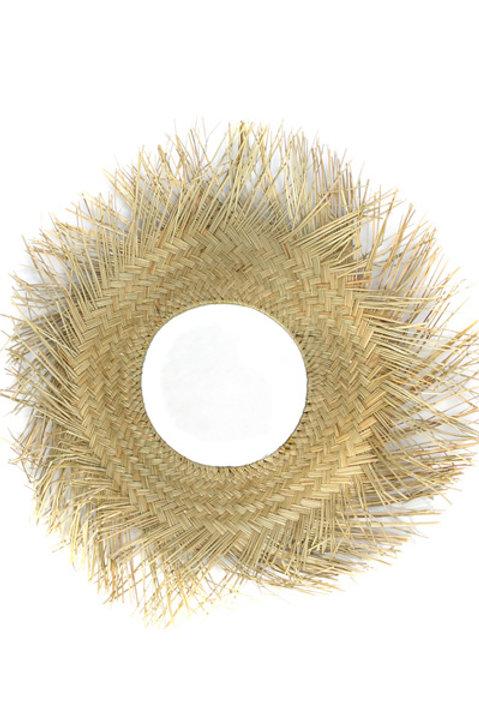 Miroir Seagrass Tressé
