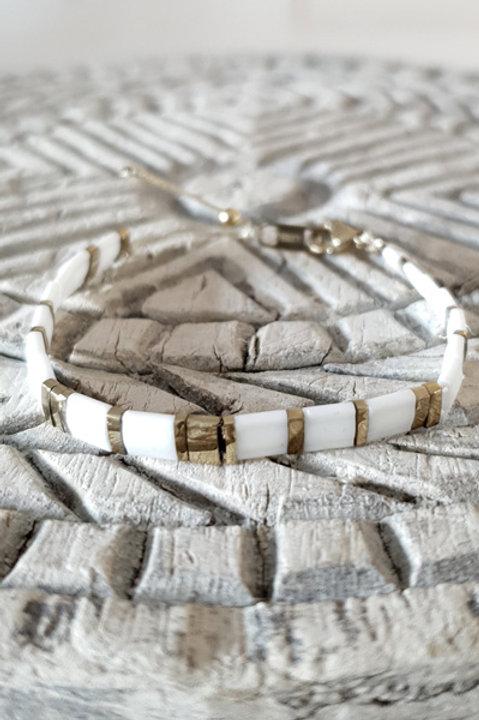 Bracelet Perles de Verre Japonaises - N9