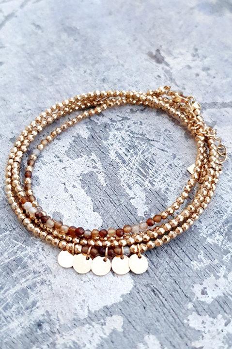 Bracelet Multi Tour - Agate - N.5