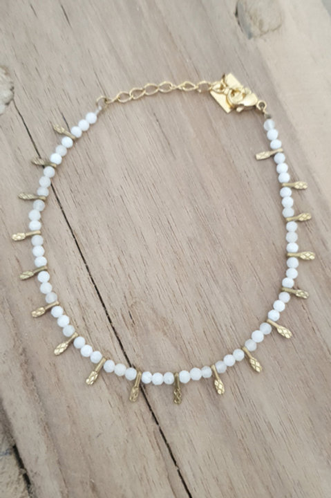 Bracelet Perles de Pierre - Agathe Blanche N1