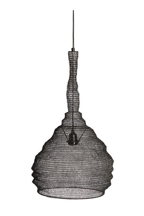 Suspension Lampe Métal Gaze Noir