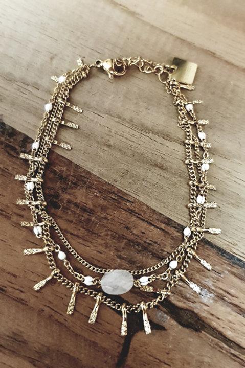Bracelet Multi Perle White