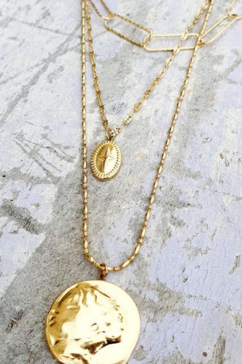 Sautoir Trio Gold