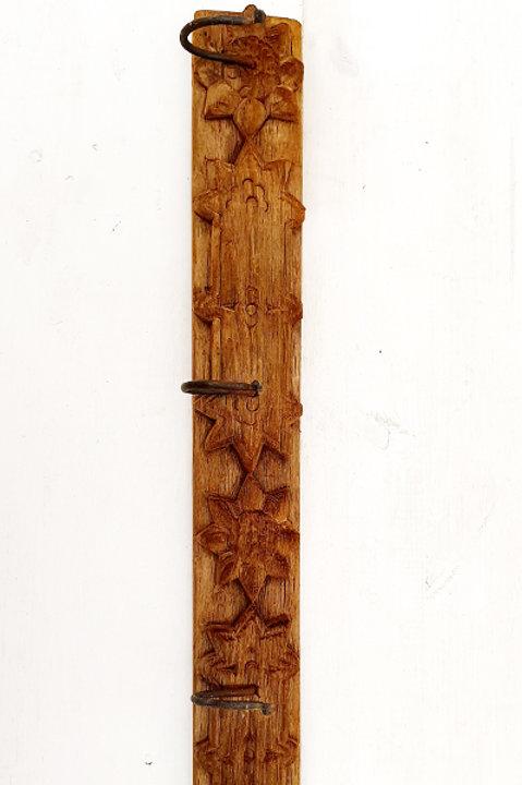 Patère Sculpté Indienne N.21 - Bois Ancien