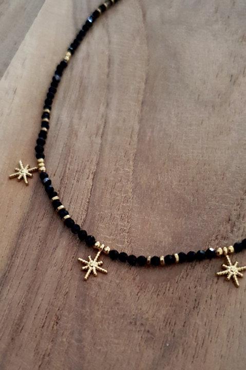 Collier Ras de Cou Summer N.1 - Perles Black Gold