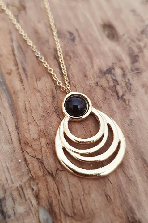 Collier Vintage Gold - Onyx
