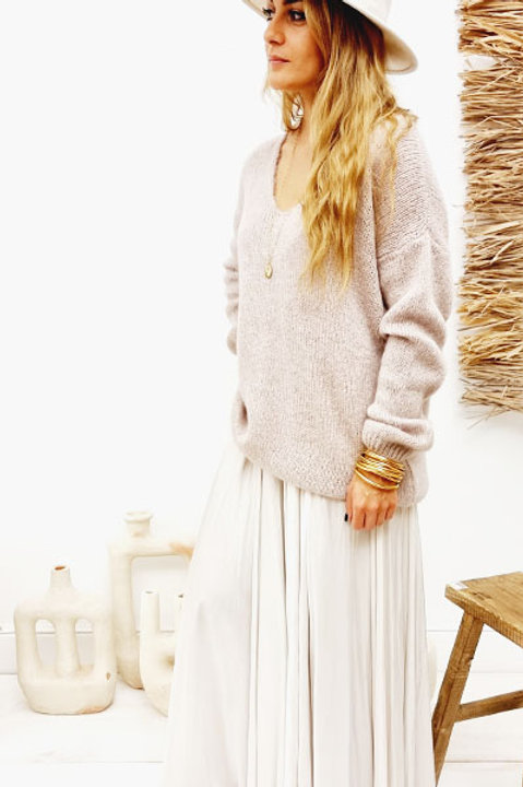 Pull Mohair - Nude