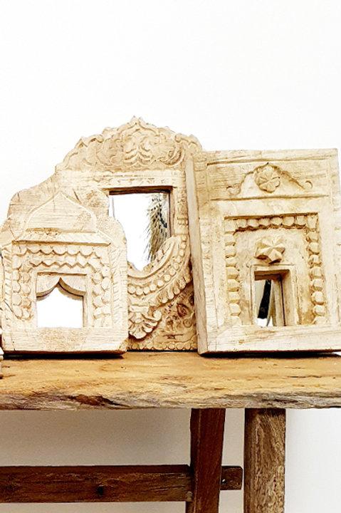Miroir Bois Sculpté Jodhpur Bleach