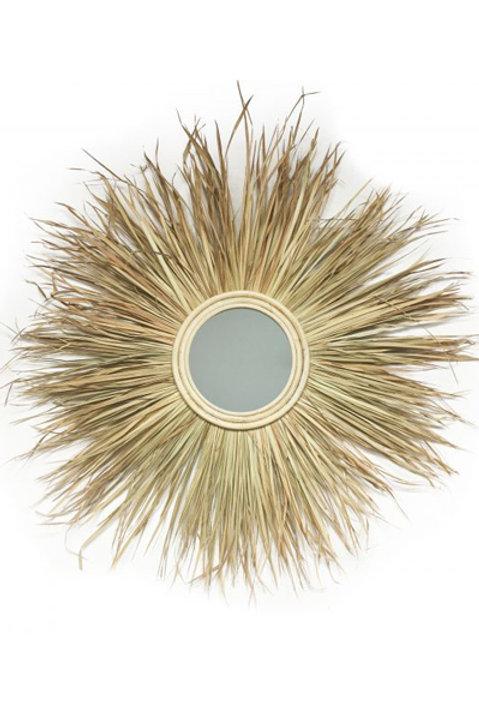 Miroir Franges Feuilles de Palmier
