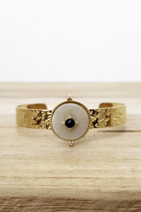 Bracelet Jonc Azteque Rond White