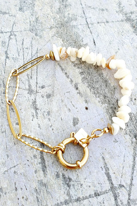 Bracelet Chainette - Nacre