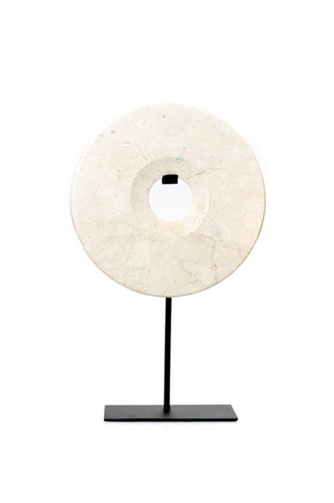 Disque Marbre - Blanc - MM