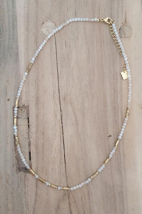Collier Perles de Pierres Naturelles - Quartz Rose
